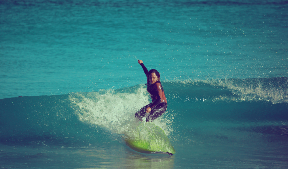 learning to surf in Margaret River